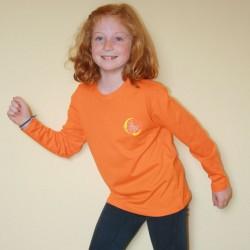 Camiseta naranja pililampos