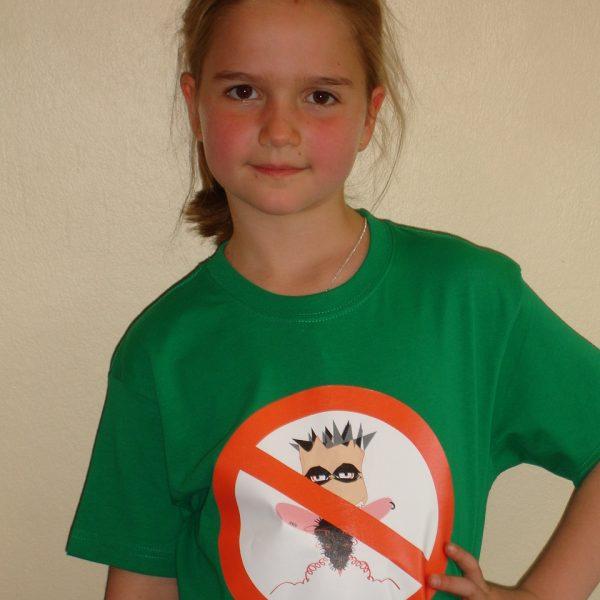 Camiseta verde chinchavaina