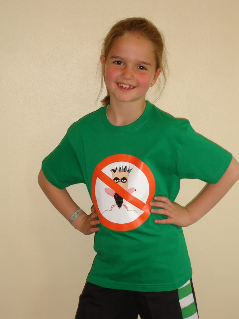 Camiseta chinchavainas verde 7-8