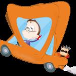 Conductor conduciendo con móvil